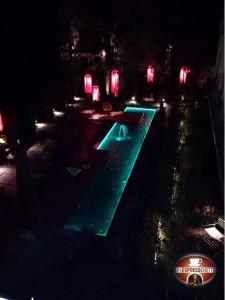 Cortile interno Hotel Nala Innsbruck di sera!
